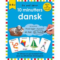 De små lærer - Skriv og visk ud - 10 minutters dansk: bog med ikke-permanent pen og spiralryg