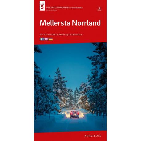 Mellersta Norrland : bil- och turistkarta - road map - Straßenkarte