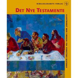 Det Nye Testamente - Illustreret, hardback: Illustreret med værker fra kunstens historie