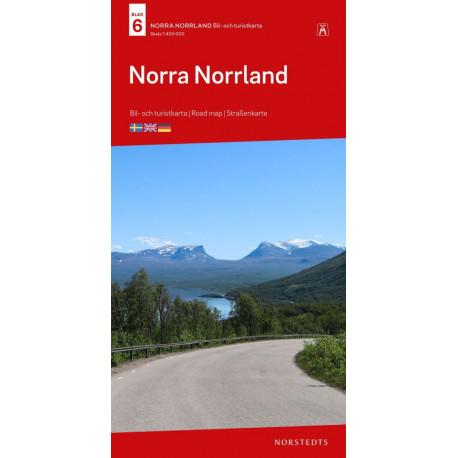 Norra Norrland : bil- och turistkarta - road map - Straßenkarte