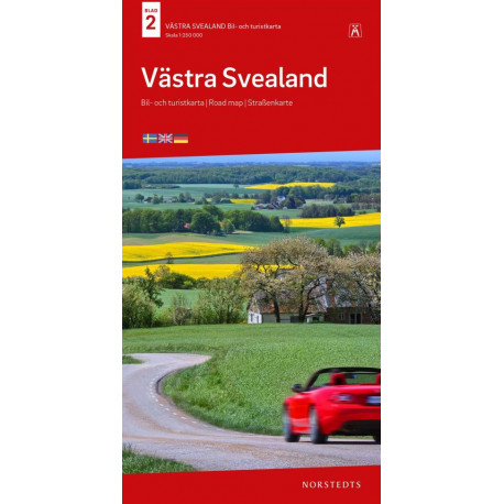 Västra Svealand : bil- och turistkarta - road map - Straßenkarte