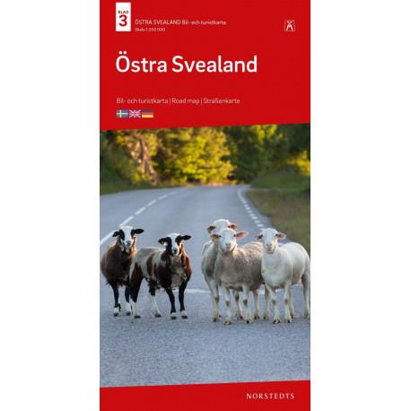 Östra Svealand : bil- och turistkarta - road map - Straßenkarte