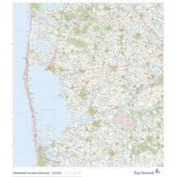 Trap Danmark: Falset kort over Ringkøbing-Skjern Kommune: Topografisk kort 1:75.000