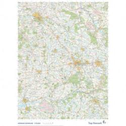 Trap Danmark: Kort over Herning Kommune: Topografisk kort 1:75.000