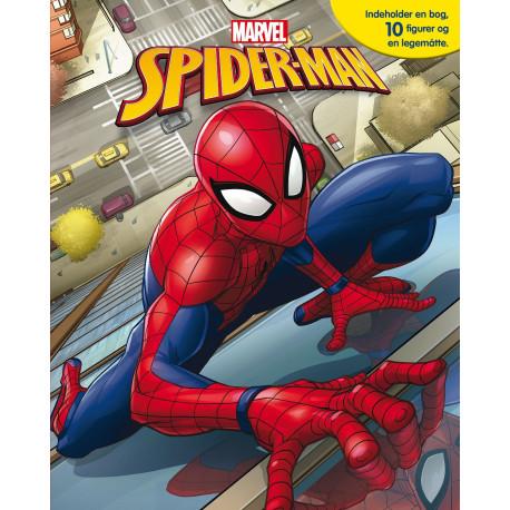 Marvel Spiderman Busy Book: Indeholder en bog, 10 disney-figurer og en legemåtte!