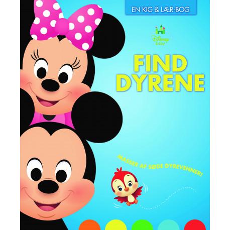 Disney Baby Find Dyrene: En Kig & Lær-Bog