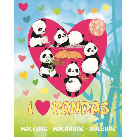 I Love Pandas Malebog