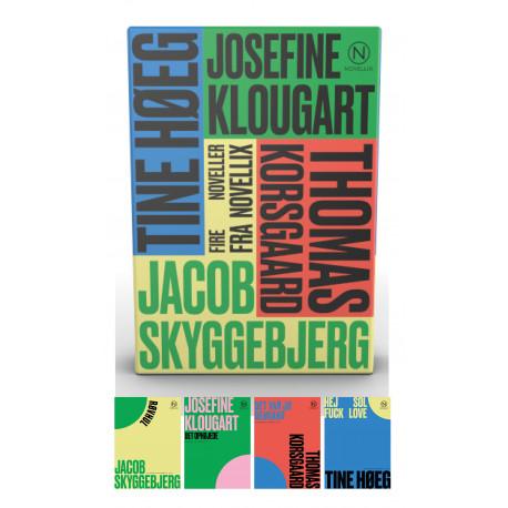 Gaveæske med fire noveller af Klougart, Korsgaard, Høeg & Skyggebjerg: Noveller fra Novellix