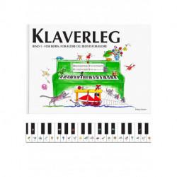 Klaverleg bind 1 - for børn, forældre og bedsteforældre (grøn)