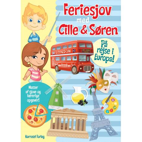 Feriesjov med Cille og Søren - På rejse i Europa: Masser af sjove og lærerige opgaver!