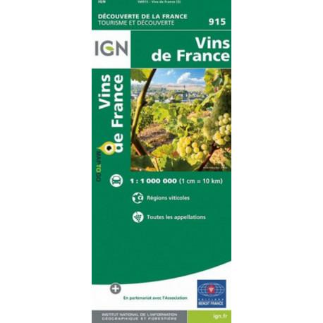 Wines of France Map : Vins du France