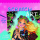 Scratch art - Kridse-Kradse - Sommerpiger - Lyserød