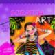 Scratch art - Kridse-Kradse - Sommerpiger - Lilla