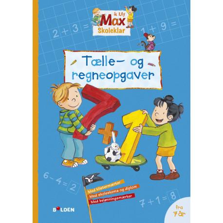 Max Skoleklar: Tælle - og regneopgaver