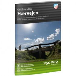 Outdooratlas Hærvejen 1:50 000