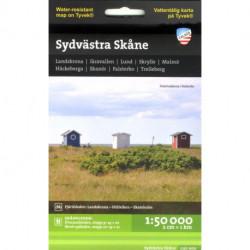 Sydvästra Skåne : 1:50 000