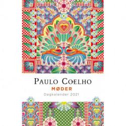 2021 Dagkalender, Paulo Coelho: Smuk kalenderbog med citater af Coelho og illustrationer af Catalina Estrada.