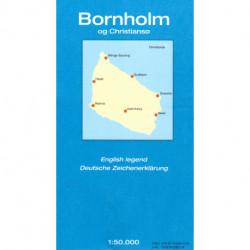 Geodætisk kort Bornholm og Christiansø: 1:50.000 Falset