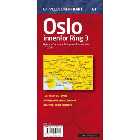 Oslo innenfor Ring 3 : bykart: bykart - city map - Stadtplan - plan de ville