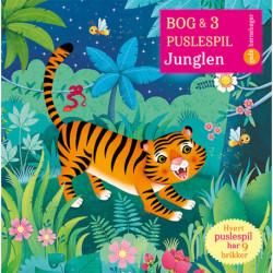 Bog og 3 puslespil om Junglen