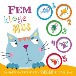 Fem kloge mus: En katten-efter-musen tælle-fortælling