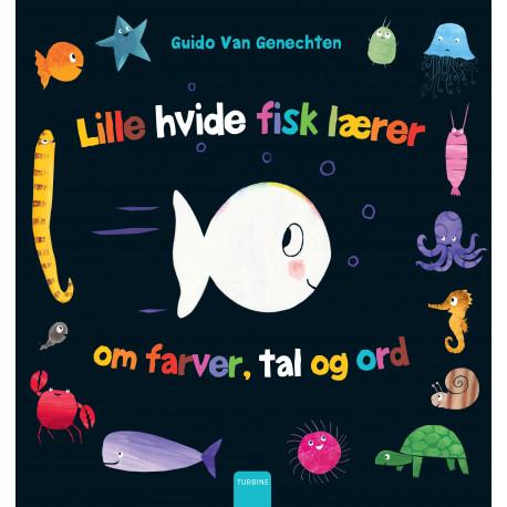 Den lille hvide fisk lærer om farver, tal og ord
