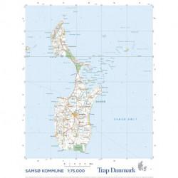 Trap Danmark: Kort over Samsø: Topografisk kort 1:75.000