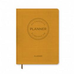 MY FAVORITE PLANNER Udateret / Karrygul: Kalender Udateret / Karrrygul