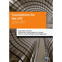 Foundations for the LPC 2016-2017