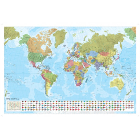World Political Marco Polo Wall Map