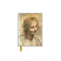 Leonardo Da Vinci: Detail of the Head of the Virgin (Foiled Pocket Journal)