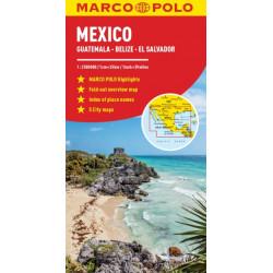 Mexico Marco Polo Map: Includes Guatemala, Belize and El Salvador