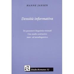 Densità informativa: Tre parametri linguistico-testuali - uno studio contrastivo inter- ed intralinguistico