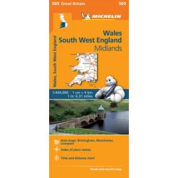 Wales - Michelin Regional Map 503: Map