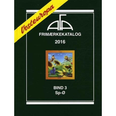 AFA Vesteuropa frimærkekatalog - Sp-Ø (Årgang 2016, bind 3)