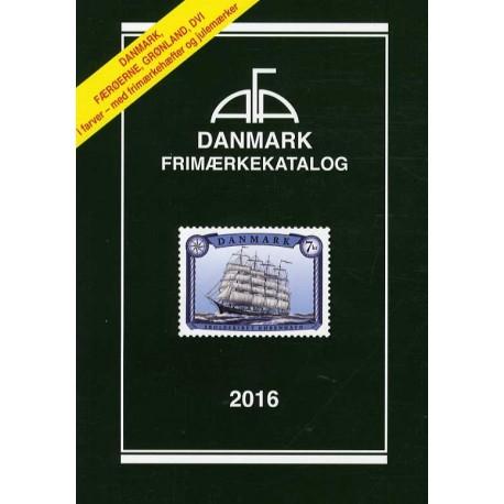 AFA Danmark, Færøerne, Grønland, Dansk Vestindien frimærkekatalog (Årgang 2016)