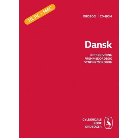 Dansk: Retsskrivning, Fremmedordbog, Synonymordbog - ordbog cd-rom