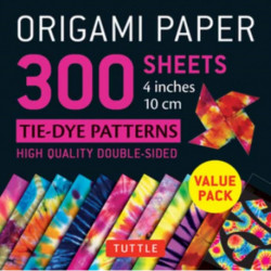 Origami Paper 300 sheets Tie-Dye Patterns 4 inch (10 cm)