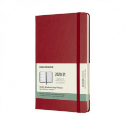 Moleskine 2021 18-Month Weekly Large Hardcover Diary: Scarlet Red