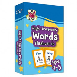 New High-Frequency Words Flashcards for Ages 4-5: perfect for home learning