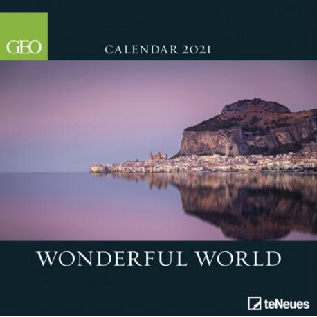 GEO WONDERFUL WORLD 30 X 30 GRID CALENDA