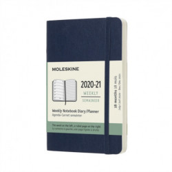 Moleskine 2021 18-Month Weekly Pocket Softcover Diary: Sapphire Blue