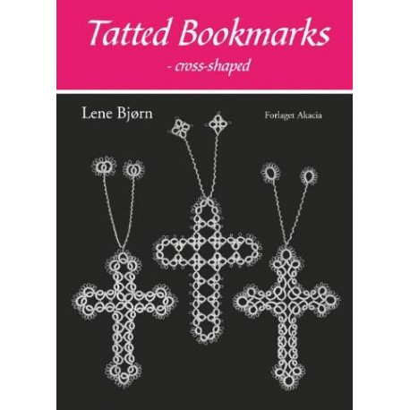 Tatted bookmarks - cross-shaped