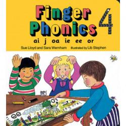 Finger Phonics book 4: in Precursive Letters (British English edition)