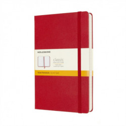Moleskine Expanded Large Ruled Hardcover Notebook: Scarlet Red