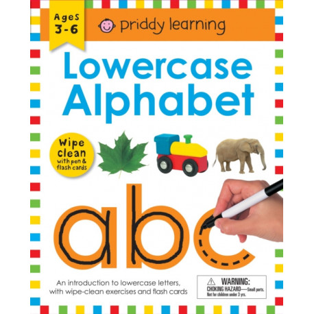 Wipe Clean Workbook: Lowercase Alphabet (enclosed spiral binding): Ages 3-6- with pen & flash cards