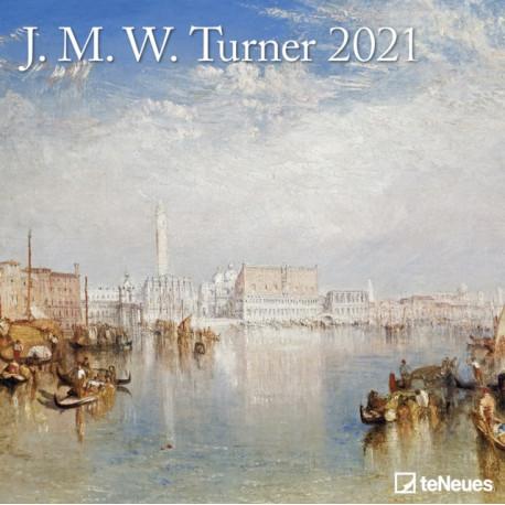 JMW TURNER 30 X 30 GRID CALENDAR 2021