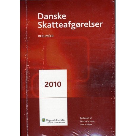 Danske skattelove 2010 bind 1-3 inkl. Danske skatteafgørelser