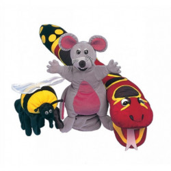 Jolly Phonics Puppets: Set of all 3