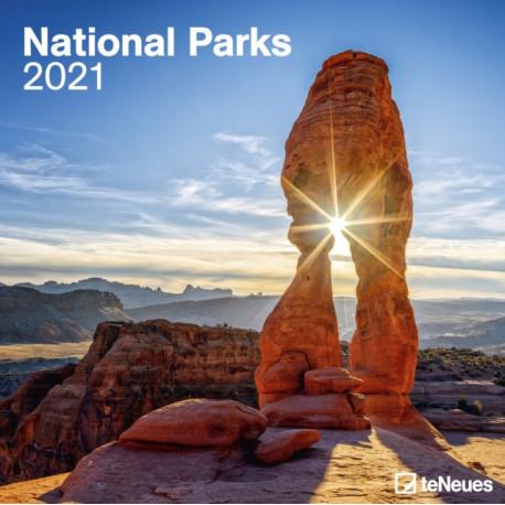 NATIONAL PARKS 30 X 30 GRID CALENDAR 202